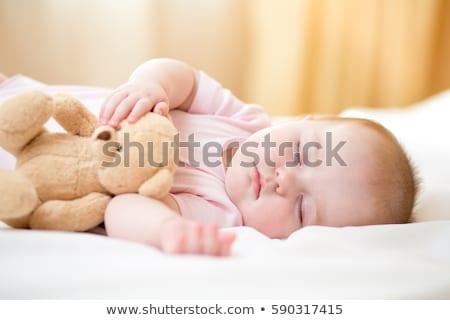 мало плюш игрушками счастливым ребенка Сток-фото © Lopolo