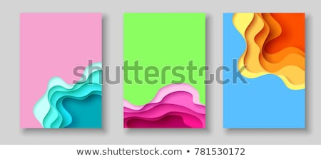 аннотация · макет · набор · бумаги · Cut · вектора - Сток-фото © cienpies