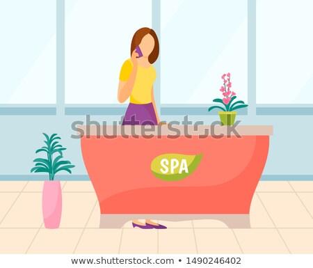 Spa Consultation, Receptionist in Salon Vector Stock photo © robuart