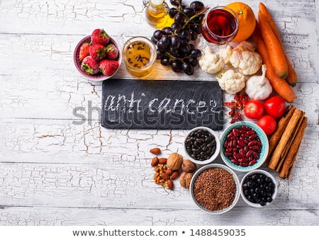 Cancer fighting products. Food for healthy Stock photo © furmanphoto
