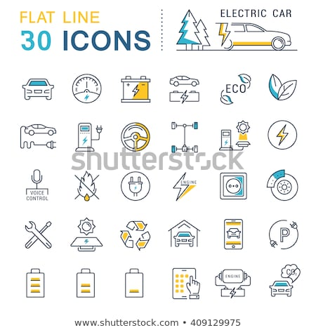 Parking Car Collection Elements Icons Set Vector Stock photo © pikepicture