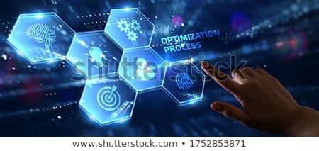 Business Optimierung Text modernen Laptop Bildschirm Stock foto © Mazirama