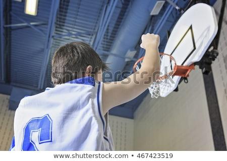 Tiener spelen favoriet sport gymnasium Stockfoto © Lopolo