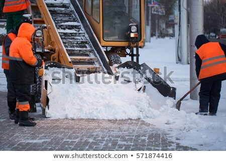 Tractor Cleaning Road From Snow Stock photo © AndreyPopov