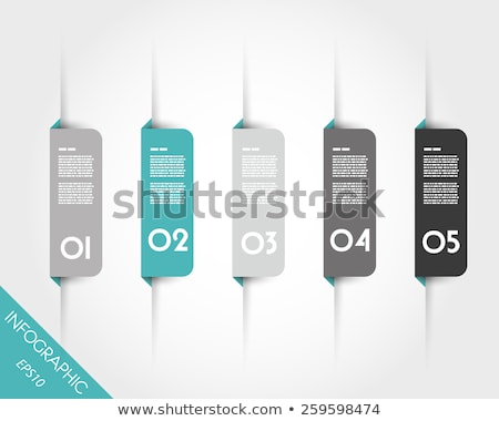 Minimalistic timeline template with square icons Stock photo © orson