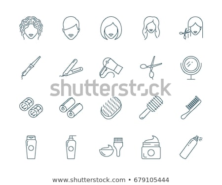 Cut Hair Iron Scissors Icon Outline Illustration Stock photo © pikepicture