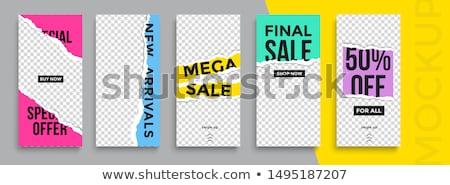Moderna de moda vector venta banner plantilla Foto stock © blumer1979