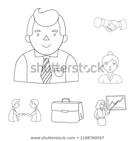 transaction document pointer icon vector outline illustration Stock photo © pikepicture