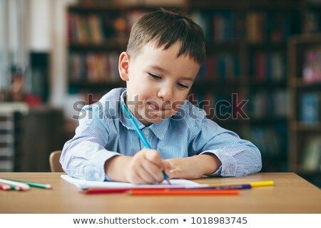 Coloring book home schooling image 1 Stock photo © clairev