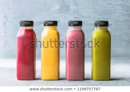 Bogyós gyümölcs dzsúz üveg vegan smoothie diéta Stock fotó © Anneleven
