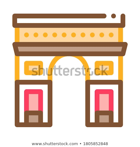 gate arch saint denis icon vector outline illustration Stock photo © pikepicture
