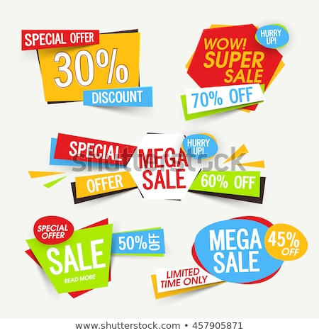 Fantastic Sale with Big Discounts, Promotion Label Stock photo © robuart