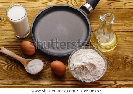 блин · подготовка · завтрак · приготовления · ингредиент · сырой - Сток-фото © trgowanlock