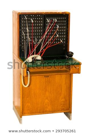 Retro telephone exchange Stock photo © olira