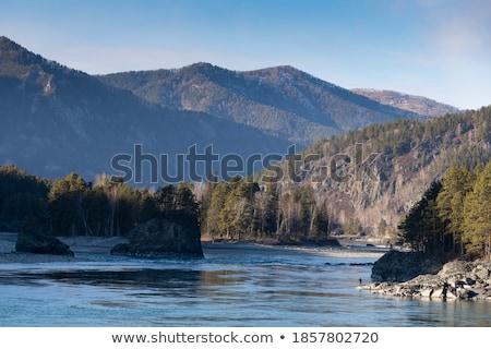 Rybaka rzeki Fotografia niebo ryb Zdjęcia stock © olira