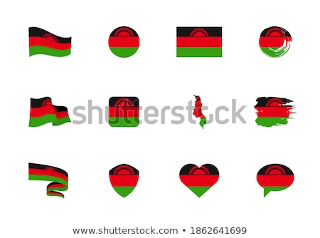 National flag of the Malawi in the shape of a heart and the inscription I love Malawi. Vector illust Stock photo © butenkow