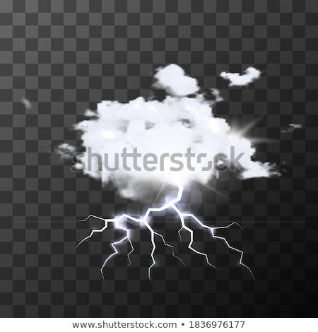 подробный реалистичный дождливый облаке ярко Flash Сток-фото © evgeny89