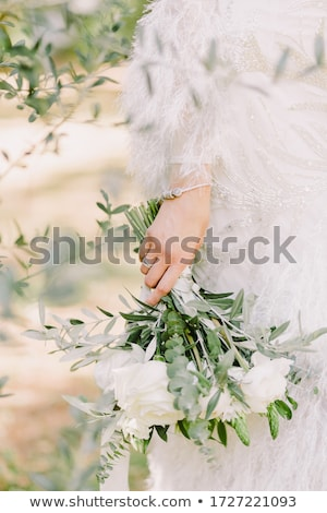 Peony flowers in bloom as floral art on pink background, wedding flatlay and luxury branding Stock photo © Anneleven