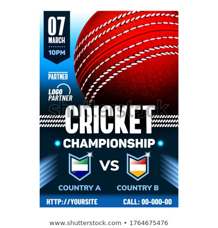крикет спорт листовка рекламный плакат Сток-фото © pikepicture