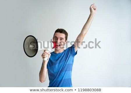 Vue haut-parleur isolé blanche musique Photo stock © magraphics