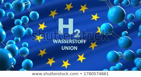 Hidrojen metin sendika 3d illustration bayrak Stok fotoğraf © limbi007