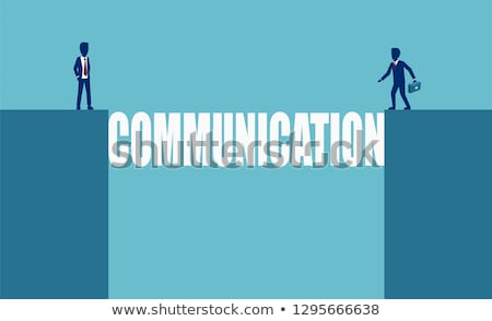Communication gap abstract concept vector illustration. Stock photo © RAStudio