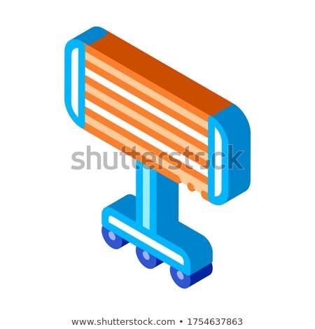 портативный отопления изометрический икона вектора Сток-фото © pikepicture