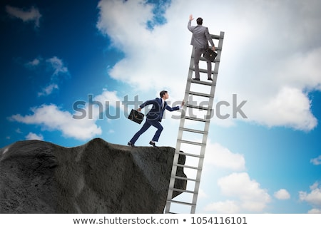 Business unethical competition concept with businessmen Stock photo © Elnur