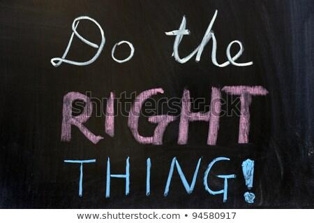 右 単語 黒板 紙 カード 教育 ストックフォト © Ansonstock