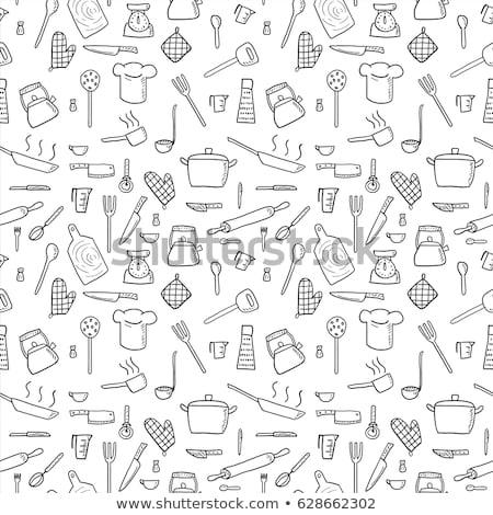 keuken · huishouden · tools · iconen · vector - stockfoto © stoyanh