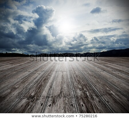 Błękitne · niebo · biały · chmury · lata · czyste · dzień - zdjęcia stock © cla78