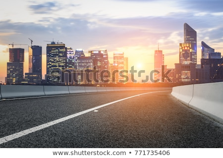 sunset of downtown city  Stock photo © cozyta