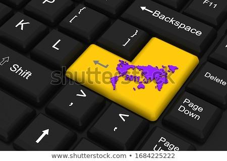 2011 mappa del mondo computer chiave internet mappa Foto d'archivio © 4designersart