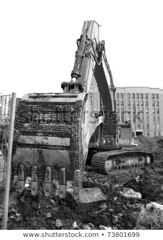 Foto stock: Demolição · equipamento · garra · trabalhar