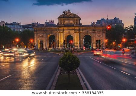 Madrid · éjszaka · fények · Spanyolország · épület · város - stock fotó © lunamarina