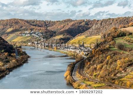 мнение природы пейзаж путешествия реке холмы Сток-фото © rbouwman