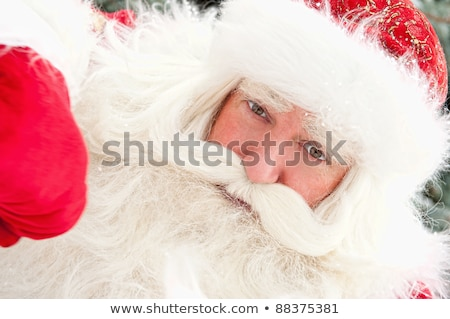 Portrait of Santa Claus standing with hand on chin outdoors at c stock photo © HASLOO