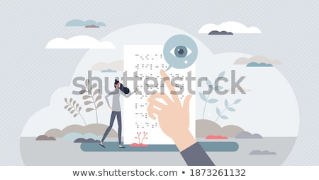 Braille dots - reading without seeing Stock photo © pashabo