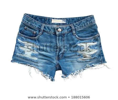 Сток-фото: джинсов · шорты · Torn