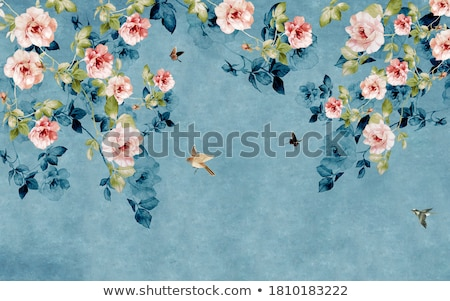 Background with birds and flowers  stock photo © gosia71