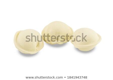 Three handmede Meat pelmeni  Stock photo © zhekos