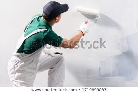 Живопись · работу · профессиональных · рабочих · внутри · домой - Сток-фото © Hofmeester