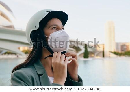 若い女性 クラッシュ ヘルメット 少女 笑顔 道路 ストックフォト © photography33