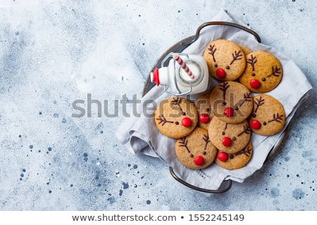 Christmas reindeer cookies on plate stock photo © simpson33
