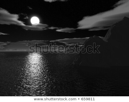 halloween moonnight on sea stock photo © paha_l