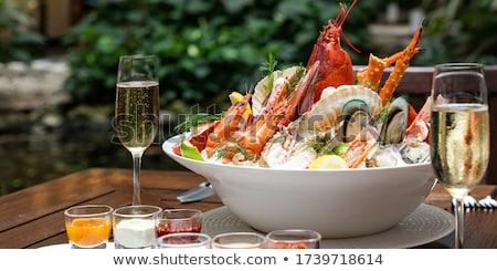 Champagne Lobster Stok fotoğraf © vichie81