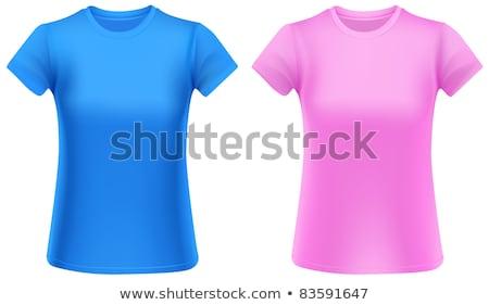lány · visel · divatos · rövidnadrág · rózsaszín · póló - stock fotó © stuartmiles