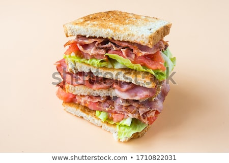 Blt サンドイッチ ハム レタス トマト クローズアップ ストックフォト © zhekos
