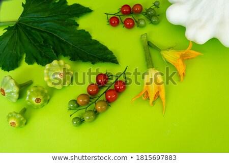 Csoport bokor paradicsomok friss citromsárga bors Stock fotó © frank11