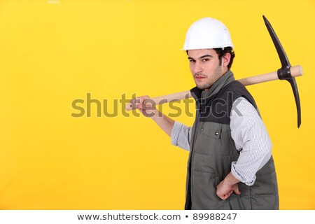 Confident worker with pick-axe Stock photo © photography33